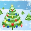 Royalty-Free Stock Vektorov obrzek: Christmas tree background