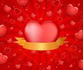 červené srdce design — Stock vektor
