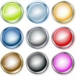 Glossy buttons vector set — Stock Vector