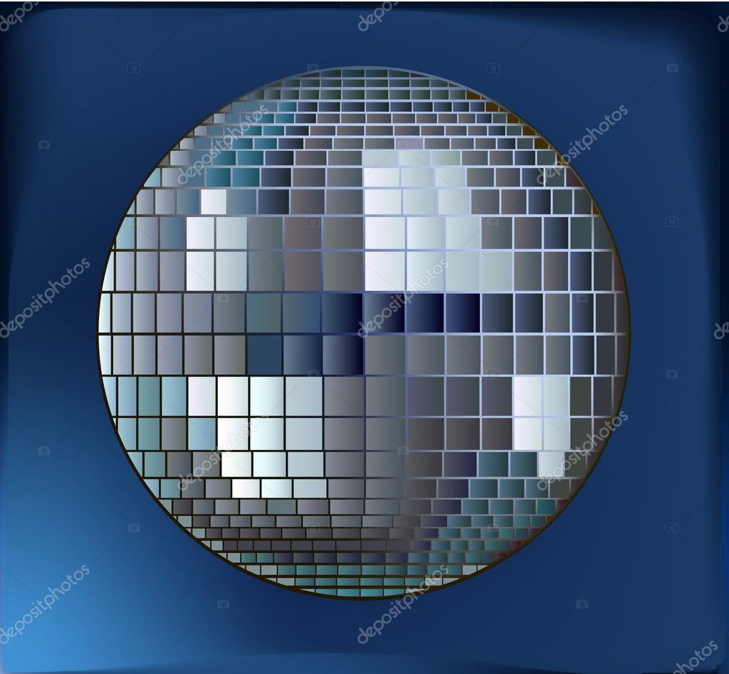 Shiny disco ball vector illustration.  — Stock Vector #8977214