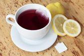 Xícara de chá de frutas — Foto Stock
