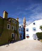 Colorful houses of Burano — Stock Photo
