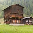 Rustic timber house, Switzerland — Stock Photo