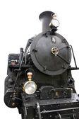 分離したビンテージの黒い蒸気鉄道 — ストック写真