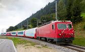 Treno espresso del ghiacciaio, svizzera — Foto Stock