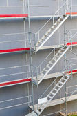 Symmetrical scaffolding construction — Stock Photo