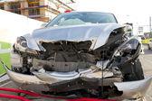 Frontal car crash wreck — Stock Photo