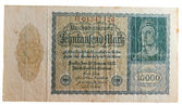 Historic german inflation Reichsmark — Stock Photo