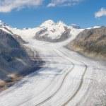Aletsch glacier, Switzerland — Stock Photo