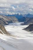 παγετώνας aletsch, ελβετία — Φωτογραφία Αρχείου