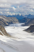 Aletsch glacier, Switzerland — Foto Stock