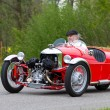 Vintage tricycle race car Morgan Super Sport from 1933 — Stock Photo