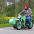 Stock Photo: Vintage sidecar motorbike Zündapp KS 600 from 194