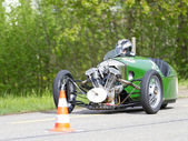 Vintage tricycle race car Morgan Super Sport — Stock Photo