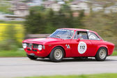 Vintage race touring car Alfa Romeo Giulia Sprint GT from 1965 — Stock fotografie