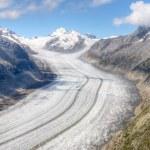 Glaciar de Aletsch, Suiza — Foto de Stock
