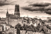 Old town Fribourg, Switzerland vintage look — Stock Photo