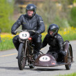 Vintage sidecar motorbike Condor D 50 from 1931 - Stock Photo