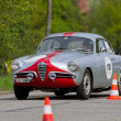 Vintage race touring car Alfa Romeo Giulietta Sprint Veloce S1 from 1957 — Stock Photo