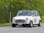 Vintage race touring car Morris Mini Cooper S from 1969 — Stock Photo