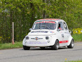 Vintage race touring car Fiat Abarth 595 from 1965 — Stock Photo