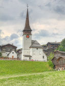Village settlement in canton Valais Switzerland — Stock Photo
