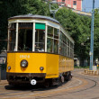Old tram of Milan, Italy — Stock Photo