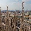 Stock Photo: View from cathedral Milan, Italy