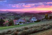 Swiss village at sunset — Stock Photo