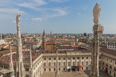 View from cathedral Milan, Italy — Stock Photo