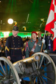 Gunner with cannon to start Sixday-Nights Zürich 2011 — Foto Stock