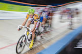 Indoor track bike race at Sixday-Nights Zürich 2011 — Stock Photo