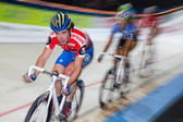 Indoor track bike race at Sixday-Nights Zürich 2011 — Stock Photo