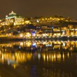 Stock Photo: VilNovde Gaiat night opposite Porto, Portugal