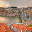 Bridge Dom Luis above Porto, Portugal — стоковое фото #8083575