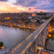 Bridge Ponte dom Luis above Porto , Portugal — Stock Photo