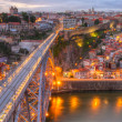 ������, ������: Bridge Ponte dom Luis above Porto Portugal