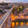 Постер, плакат: Bridge Ponte dom Luis above Porto Portugal