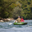 Middle aged couple rafting — Stock Photo #8083601