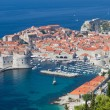Peninsula of Dubrovnik with harbor, Croatia — Stock Photo