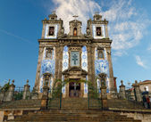 Porto: Church of Santo Ildefonso with tiles , azulejos — Stock Photo