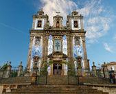 Porto: Church of Santo Ildefonso with tiles , azulejos — Stock Photo