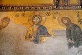 Mosaico cristiano de la mezquita de hagia sofía — Foto de Stock