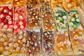 Tray of turkish sweets — Stock Photo