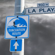 Tsunami evacuation route sign — Stock Photo #8099376