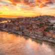 Porto at river Duoro, sunset — Stock Photo #8099987