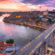 Stock Photo: Bridge Ponte dom Luis above Porto , Portugal