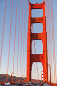 Pedastrian View on Golden Gate bridge — Stock Photo