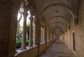 Franciscan cloister in Dubrovnik, Croatia — Stock Photo