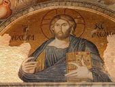 Mozaika ježíš v kostel chora — Stock fotografie